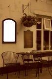 Café con el espacio blanco para el anuncio Foto de archivo