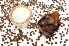 Café con el mollete Imágenes de archivo libres de regalías