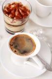 Café con el postre Fotografía de archivo