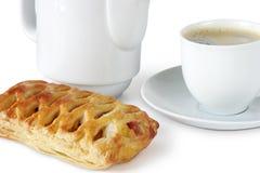 Café con la empanada dulce Foto de archivo libre de regalías