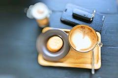 Café con la galleta foto de archivo libre de regalías