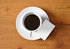 Café con la tableta digital Fotografía de archivo