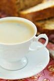 Café con la tarta de manzanas Foto de archivo libre de regalías