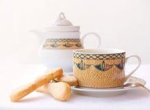 Café con la torta Imagen de archivo libre de regalías