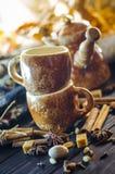 Café con las especias Fotografía de archivo libre de regalías