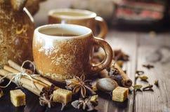 Café con las especias Fotos de archivo libres de regalías