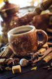 Café con las especias Fotos de archivo