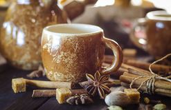 Café con las especias Imagen de archivo