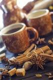 Café con las especias Imagen de archivo libre de regalías
