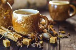 Café con las especias Foto de archivo libre de regalías