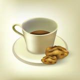 Café con las galletas Imágenes de archivo libres de regalías