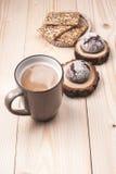 Café con las galletas Fotografía de archivo