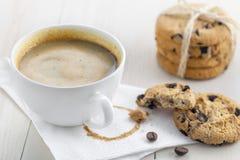 Café con las galletas Fotografía de archivo libre de regalías