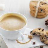 Café con las galletas Imagen de archivo