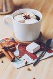 Café con las melcochas Foto de archivo libre de regalías
