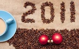 Café con los gránulos Imagen de archivo libre de regalías