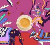 Café con tema mexicano colorido Fotografía de archivo