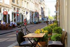 Café confortable dans le secteur de neuf rues, Amsterdam Photos stock