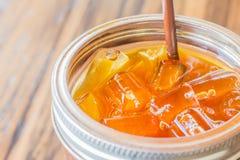 Café congelado do café no vidro Fotos de Stock