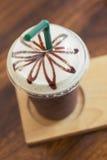 Café congelado na cafetaria Fotos de Stock Royalty Free