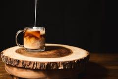 Café congelado para o verão fotografia de stock