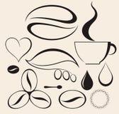 Café conjunto Imágenes de archivo libres de regalías