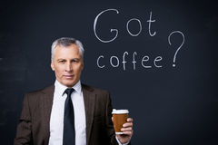 ¿Café conseguido? Foto de archivo libre de regalías