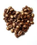 Café-coração imagem de stock