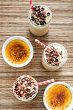 Café-Creme- bruleekaltes Getränk Lizenzfreie Stockfotografie