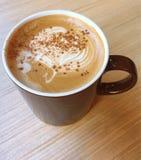 Café cremoso, café del capuchino, café del Latte, café caliente, café de la leche Imagen de archivo libre de regalías