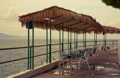 Café Croatia da praia imagem de stock