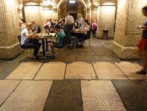 Café in the Crypt Stock Images