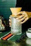 café d'égoutture - filtre d'effet de vintage image libre de droits