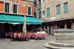 Café d'été à Venise images stock