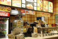 Café d'aliments de préparation rapide image libre de droits