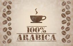 café 100% d'arabica photos libres de droits