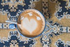 Café d'art de Latte, ton de vintage photo stock