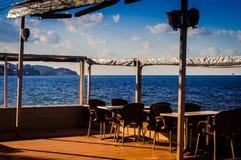 Café d'Empy dans l'endroit d'été Images stock