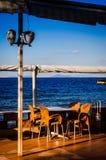 Café d'Empy dans l'endroit d'été Photos libres de droits