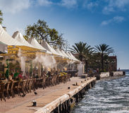 Café d'iguane - bord de mer de Punda Photos libres de droits