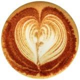 Café da arte do Latte isolado no fundo branco Fotos de Stock Royalty Free