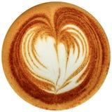 Café da arte do Latte isolado no fundo branco Fotos de Stock