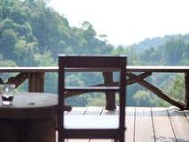Café da cadeira de tabela Imagens de Stock Royalty Free