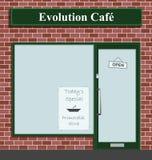 Café da evolução ilustração do vetor