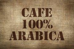 café 100% da goma-arábica Fotografia de Stock Royalty Free