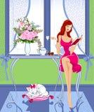 Café da manhã ilustração royalty free