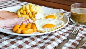 Café da manhã americano Imagens de Stock
