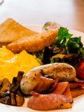Café da manhã americano entusiasta Fotografia de Stock Royalty Free