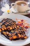 Café da manhã americano da sobremesa tailandesa do estilo imagem de stock