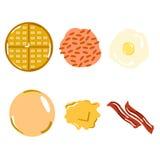 Café da manhã clássico americano da configuração lisa ilustração stock